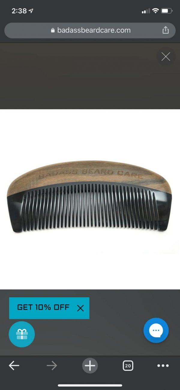 Fetti says beard care comb