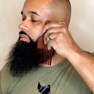 Beard pick fetti says